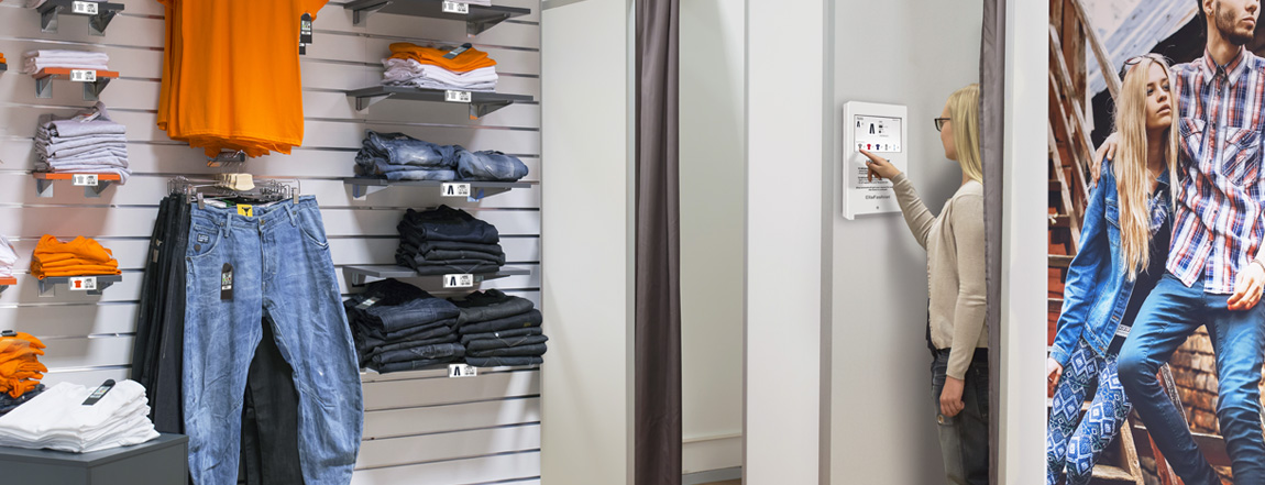 electronic price tags and smart fitting room
